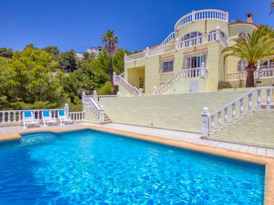 Photo for This 4-bedroom villa for up to 12 guests is located in Benissa and has a private swimming pool and W