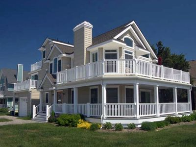Photo for ONLY 2 blocks from the beach. OFFERS nice large decks for your outdoor enjoyment