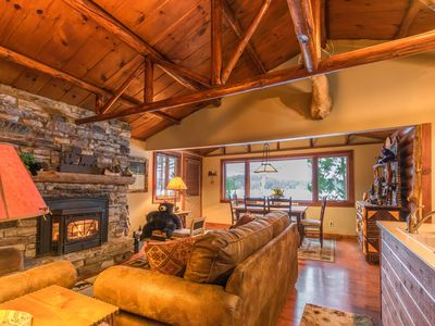 Photo for Lakefront Bear Cabin on Lake Colby in Saranac Lake, Rent 1 or all 4 Cabins