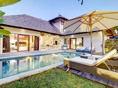 Photo for Fancy 3 bed villa close to Canggu Club