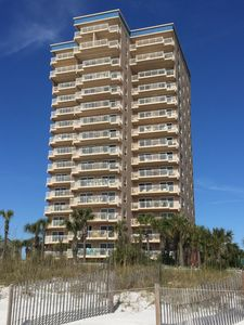 Exterior view of Destin Towers viewed from our private beach.
