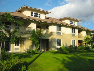 Our Villa is located on the ground floor with a large grass area off the lanai