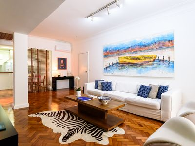 Photo for Unique and cozy garden-flat on Ipanema beach block