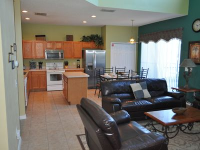 Family Room, Breakfast Area and Kitchen