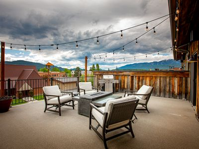 Photo for NEW LISTING! Penthouse in Heart of Downtown Whitefish!2BD 2BA w/ 500sqft balcony