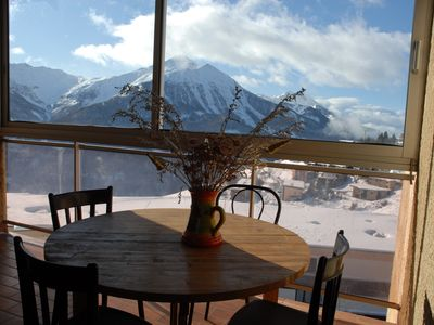 Photo for nice condo, with balcony sun on the slopes