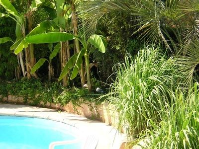 Photo for Beachfront villa with pool, sleeps 6, carefully decorated, air-conditioned