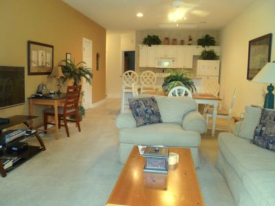 Living, dining, kitchen area. Flat screen LED, & DVD. Each BR also has TV
