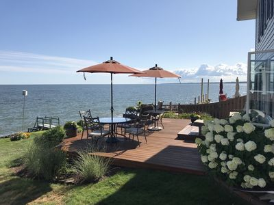 Photo for Lakefront Cottage, sandy (state preserve) beach in walking distance