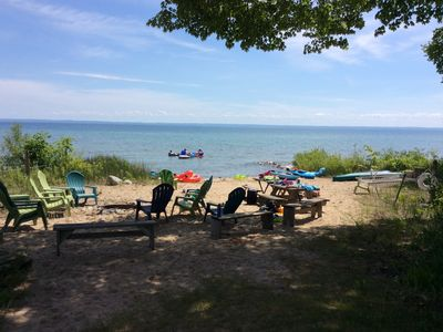 Photo for Immaculate 9 Bedroom Beachfront Home on Grand Traverse Bay Sleeps 24