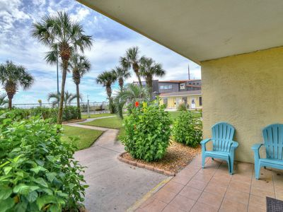 Photo for 1-Bedroom Gulf-front Condo – VIP Ground-Floor Unit