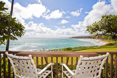 Sit and enjoy the breathtaking ocean view.