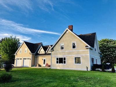 Photo for Secluded waterview farmhouse near city + beaches