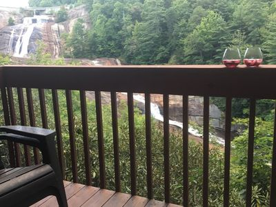 Photo for Falling Waters ~ 2br/2ba Luxurious Mountain Condo on Toxaway Falls