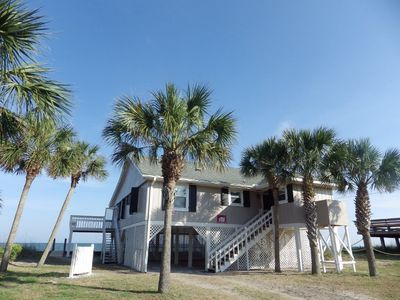 Photo for Pet Friendly, Secluded Island, Open Ocean Front House, covered & Open Decks!