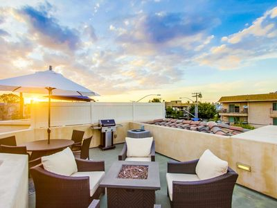 Photo for ROOFDECK | AC + 🐕 + 🚲 | Unmatched Family Beach Townhome, Private Parking, BBQ!