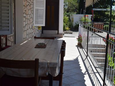 Photo for Three bedroom apartment with terrace and sea view Starigrad (Paklenica) (A-17865-a)