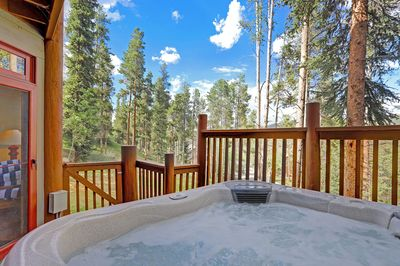 Private outdoor hot tub