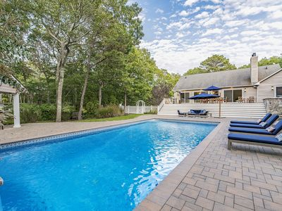 Photo for Secluded Hamptons Getaway with Pool, Hot Tub, Cabana Bar & Firepit