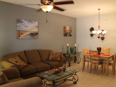 Photo for 1st Floor Condo Close to Shopping, Minutes from the Beach! Gated Community