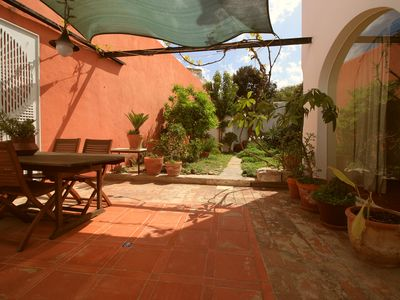 Photo for Calm House with garden heart of the Tavira close to the River and Roma Bridge