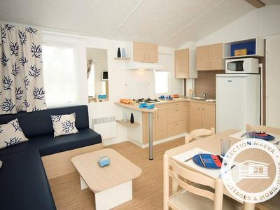 Photo for Camping Le Bel Air ***** - Maeva Camping - Fairy Mobile Home 4 Rooms 6/8 People