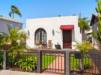 Photo for Adorable Ocean Beach Bungalow - Indoor Laundry & Cozy Outdoor Patio