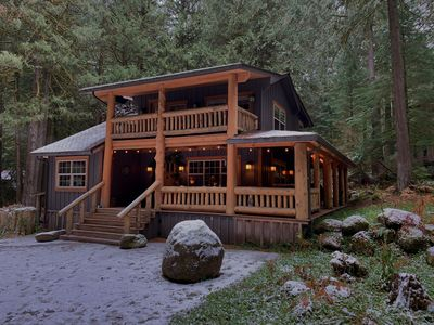 Photo for Oct availability - discounted! Cozy, remodeled cabin on 2 Creeks w/ log gazebo