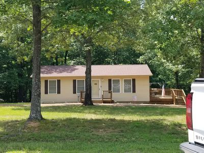 Photo for NEW LISTING! Cozy open concept home on popular Jonathan Creek area of KY Lake!