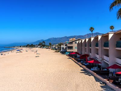 Photo for Beach Front With Large Patio Right on the Sand! CS 105