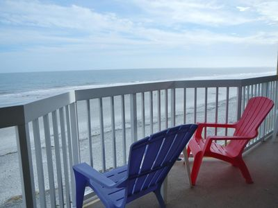Photo for Beautiful Oceanfront Folly Beach Condo, 2 Pools, Large Beachfront Deck, Elevator