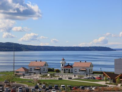 Photo for View of the Sea, Mountains and Islands Near Mukilteo Lighthouse, Boeing,  & Trai