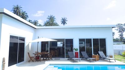 3 bedroom villa, garden pool and private parking 2 min from lamai beach