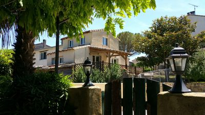 Photo for Four self-catering cottages in an old farmhouse with pool - 'Languedoc'