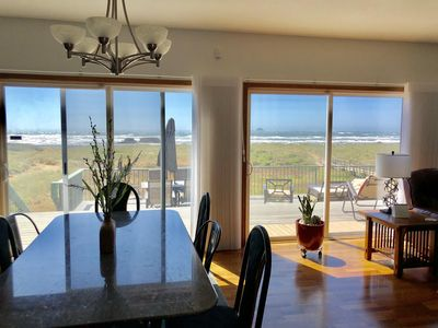 Photo for NEW-BEACH FRONT, Dog friendly, jacuzzi, game room, patios, fire pit, spacious