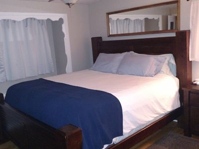 Photo for Master bedroom with comfy king bed, pvt bathroom; access to W/D, kitchen, deck