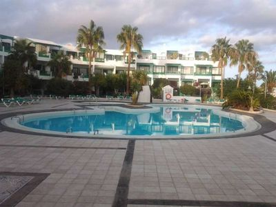 "Photo for Apartment a short walk away (231 m) from the ""Playa El Bastián"" in Costa Teguise with Internet, Pool, Garden, Balcony (970016)"