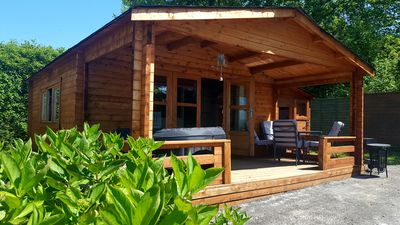 Photo for Hydrangea Lodge, 4 berth wooden lodge with private hot tub