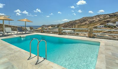 Photo for Villa Sinne Mykonos, 4 Bedrooms, Private Pool, Up to 10 Guests Recharge your batteries diving into the Aegean Sea that lies at your feet.