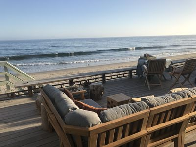 Photo for Gorgeous Malibu Beach Home On Private Beach Right On The Sand.
