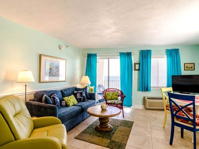 Photo for Beautiful  Gulf Front Condo ~ Great Views from Private Balcony~ Community Pools and BBQ Grills!