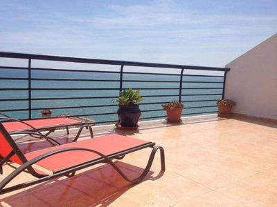 Photo for Luxury apartment, wifi, pool, parking and views of the Mediterranean Sea