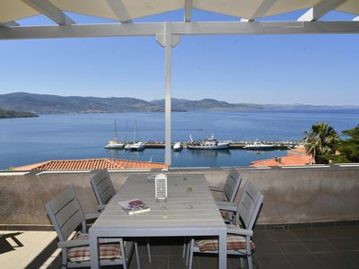 Photo for A Spacious 2-Level 2-Bedroom Town-Home With Stunning Views To the Aegean Sea