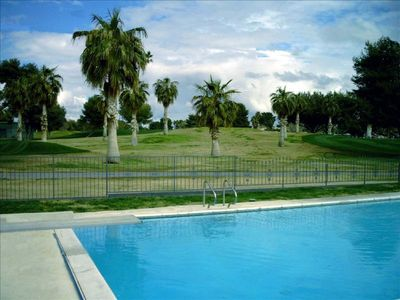 Spacious Pool in backyard adjacent to golf course.