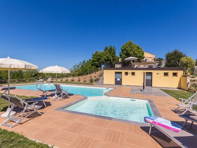 Photo for Villa Soffio with pool in the hills of Fermo, only 20 minutes from the Adriatic coast.