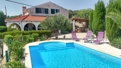 Photo for Charming Villa Nika with the pool on the most beautiful island in Adriatic sea