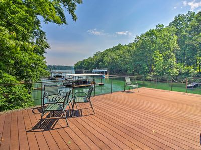 Photo for NEW! Large Gainesville Home w/ Dock on Lake Lanier