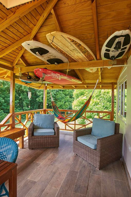 Eagles' Base Cottage with amazing views of the lush forest & Caribbean Sea