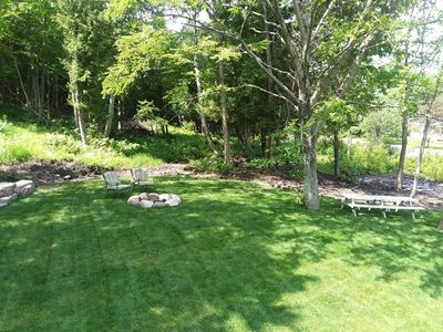 Side Yard and fire pit