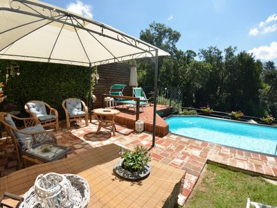 Photo for Private Villa with WIFI, A/C, private pool, TV, veranda, pets allowed, parking, close to Viareggio